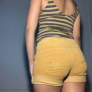 Corduroy shorts!